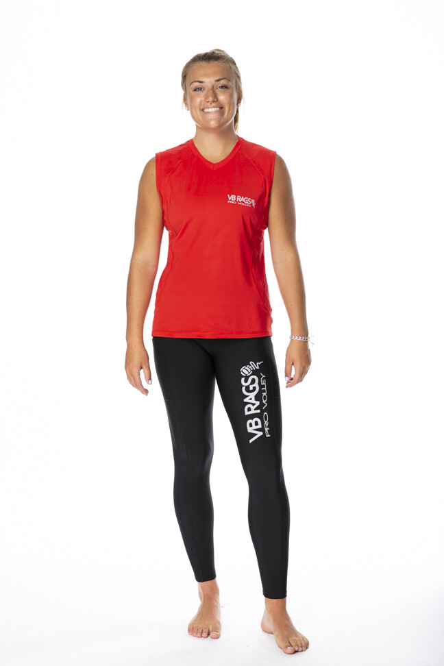 BRING IT WOMENS  SLEEVELESS PERFORMANCE TEE  | RED