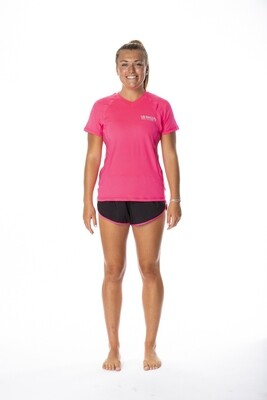 WORK IT PINK WOMENS SHORT SLEEVE PERFORMANCE TEE