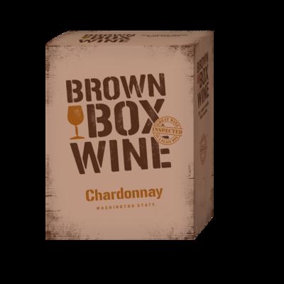 Brown Box Chardonnay, case of three 3L boxes