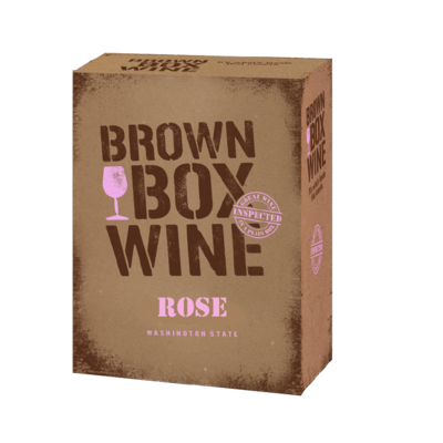 Brown Box Rose', case of three 3L boxes