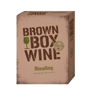 Brown Box Riesling, case of three 3L boxes