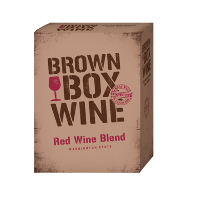 Brown Box Red Blend, case of three 3L boxes