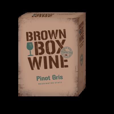 Brown Box Pino Gris, case of three 3L boxes