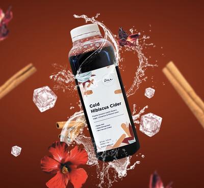 Cold Hibiscus Cider -  32 Oz