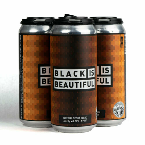 Black is Beautiful 4-Pack 16oz Cans
