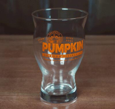Pumpkin Pint Glass