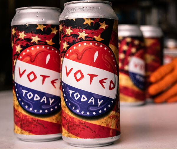I Voted Today 4-Pack 16oz Cans