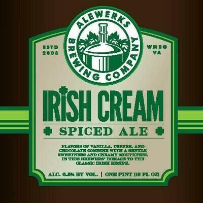 Irish Cream Spiced Ale 32oz Crowler