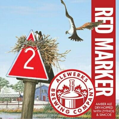 Red Marker 32oz Crowler