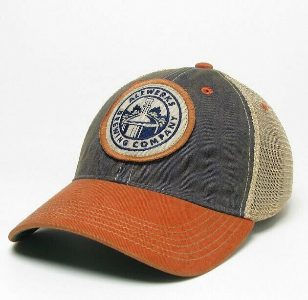 Navy/Orange Logo Hat