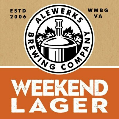 Weekend Lager 32oz Crowler Monday Special