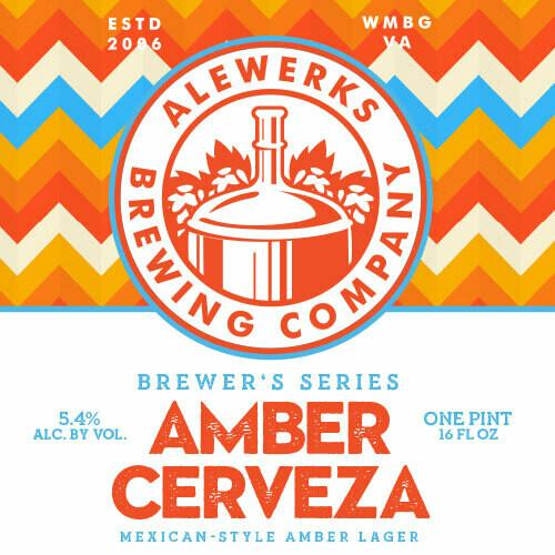 Amber Cerveza 32oz Crowler