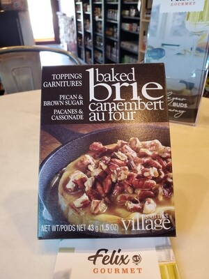 Gourmet Village Brie Topping Pecans & Brown Sugar 1.5 oz