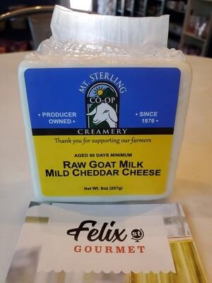 Mt Sterling  Raw Mild Goat Cheddar 8 oz