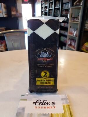 Black Diamond Cheddar Cheese 2 year white 6 oz