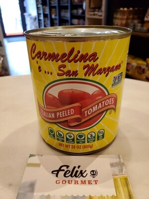 Carmelina Italian Whole Peeled Tomatoes 28 oz