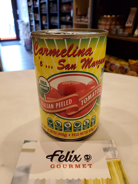 Carmelina Italian Whole Organic Peeled Tomatoes 14.28 oz