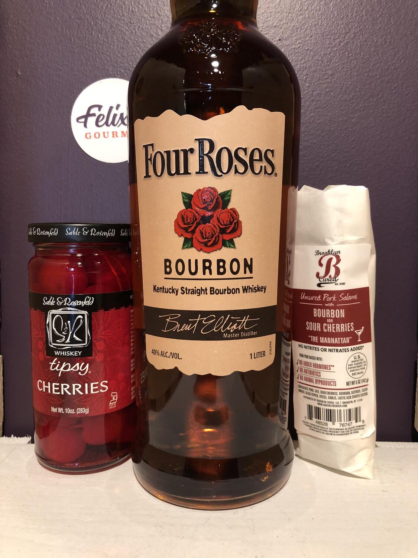 Four Roses Bourbon & Salami Bundle