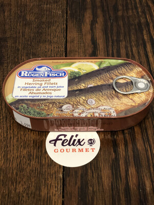 RugenFisch Smoked Herring Fillets in Oil  6.7 oz