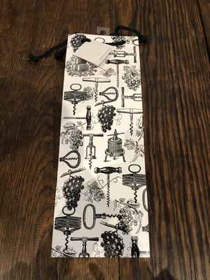 Antique Corkscrews Wine Gift Bag 1 Bottle #43-504