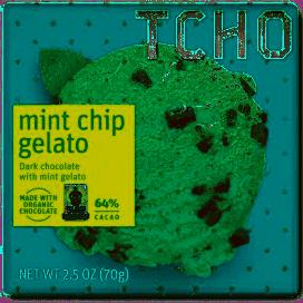 TCHO Mint Chip Gelato Chocolate Bar 2.5 oz