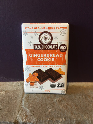 Organic Gingerbread Cookie Amaze Bar, 60%