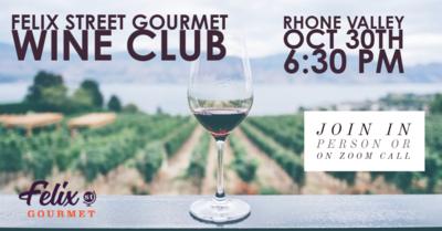 FSG Wine Club Oct 30th Tasting Kit - Rhone Valley