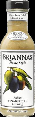 Briannas Italian Vinaigrette Dressing 12 oz