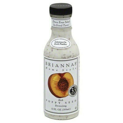 Briannas Poppy Seed Dressing 12 oz