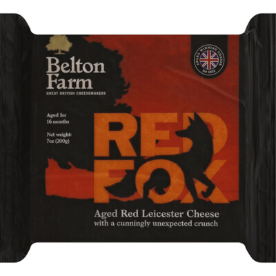 Belton Farm Red Fox Aged Red Leicester Cheese 7 oz