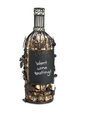Cork Cage Chalkboard Wine Bottle