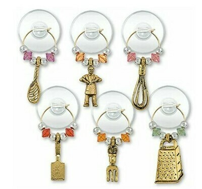 Cooking Party Wine Charms Set of 6