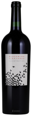 Blackbird Vineyard Illustration Red 2014