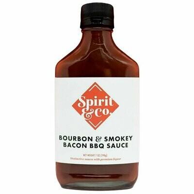 Spirit & Co Bourbon & Smokey Bacon BBQ Sauce 7 oz