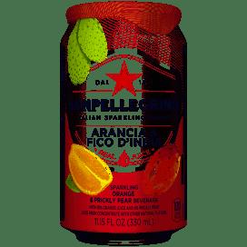 San Pellegrino Orange & Prickly Pear Single  11.5 oz Can