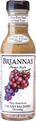 Briannas Vinaigrette New American Creamy Balsamic Dressing 12 oz