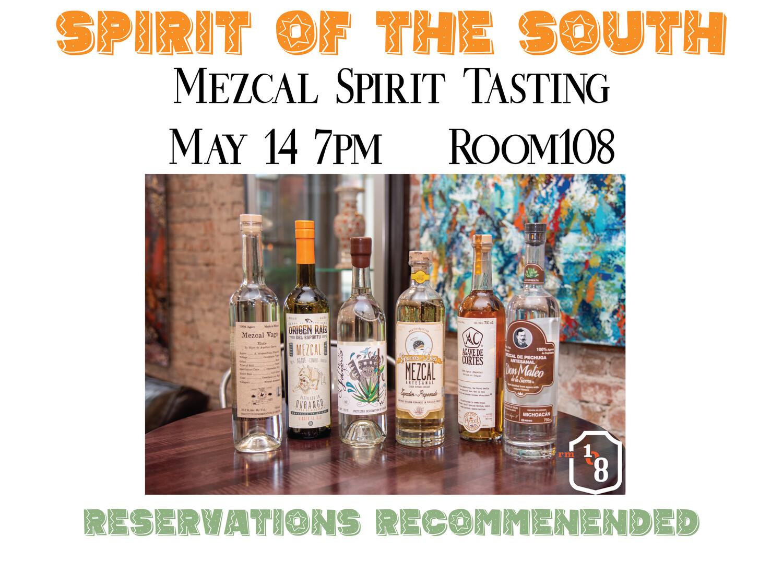 Mezcal Spirit Tasting May 14th