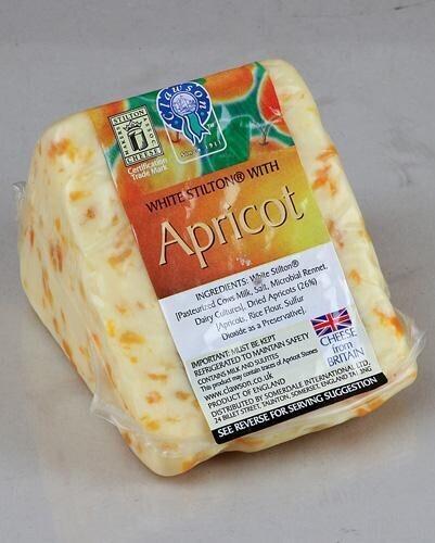 Clawson Suburst White Stilton with Apricots ~ 10 oz
