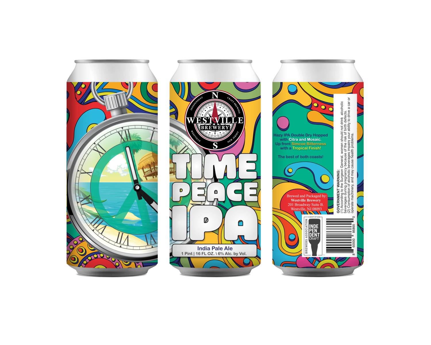 Time Peace IPA - 6% ABV - 4 Pack