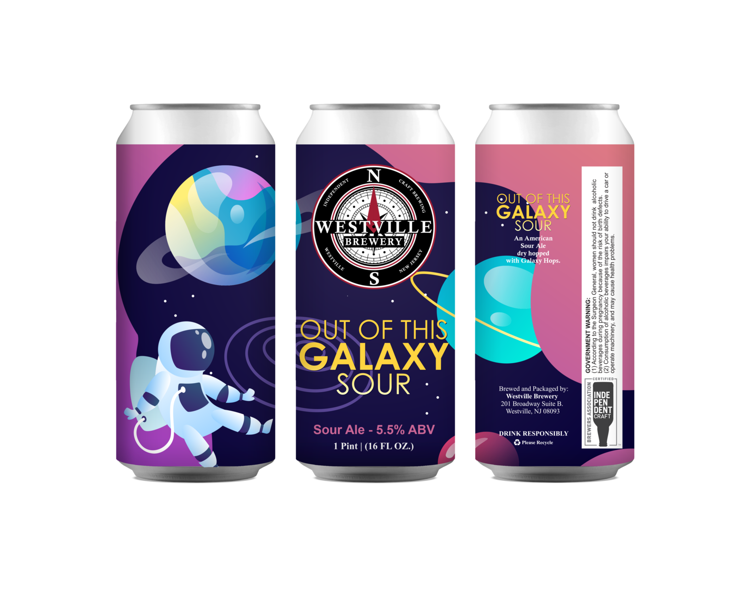 Out of this Galaxy Sour - 5.5% ABV - 4 Pack