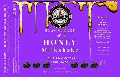 Blackberry Honey Milkshake IPA- 6.6% ABV - 4 PACK