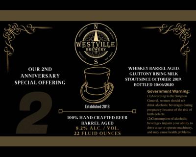 Whiskey Barrel Anniversary Stout- 8.2% (22oz Bottle)