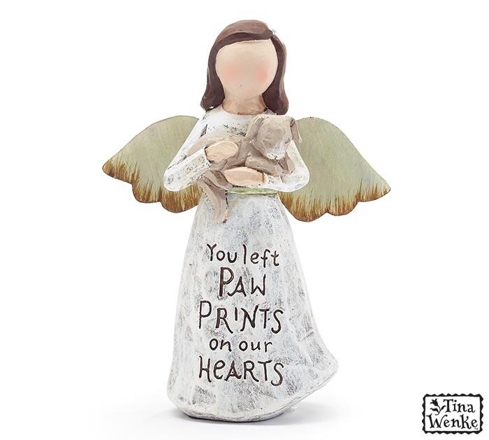 Figurine Angel Holding Dog-2388-HEM