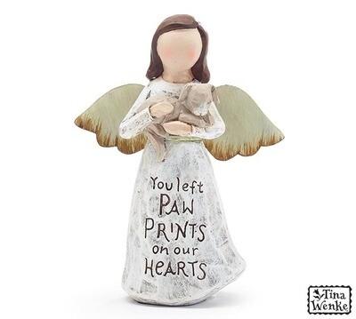 Figurine Angel Holding Dog