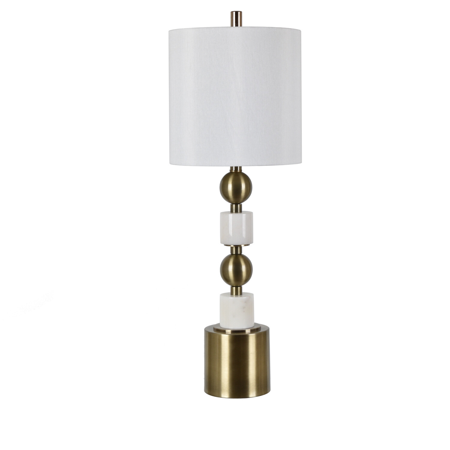 Marble and Metal Table Lamp