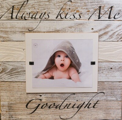 Beach Frames White Washed Always Kiss Me Goodnight 8x10