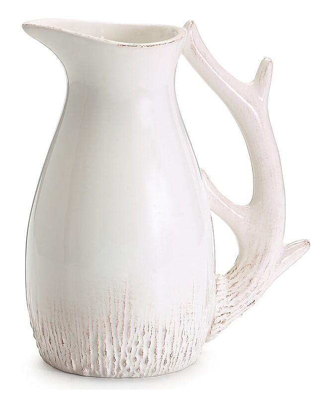White Ceramic Deer Pitcher-2356-HEM