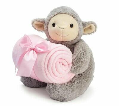 Plush Pink Lamb Blanket