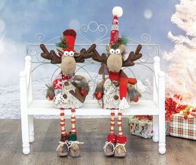 Woolly Winter Moose Button Leg