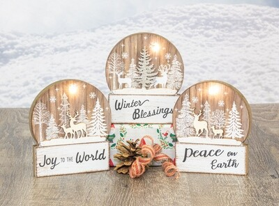 Joy Blessings Snow Globe